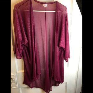 Lularoe kimono Shirley Burgundy medium A 001